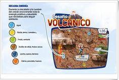 """""""Desafío volcánico"""" (Juego de alimentación sana)"""