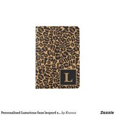 Shop Personalised Luxurious faux leopard skin print Passport Holder created by Koovox. Passport Holders, Passport Wallet, Honeymoon Gifts, Elegant Chic, Holiday Photos, Fashion Prints, Colorful Backgrounds, Hand Sewing, Printer