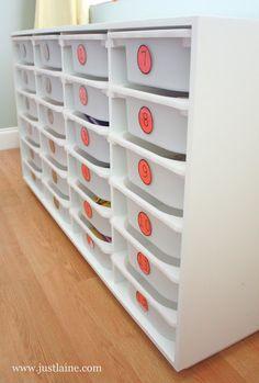 it's just Laine: Workbox/Storage Shelf Tutorial + Printable Plans - great Blog!  Iam  thinking work shop strage.