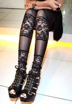 lace tights by switchlight