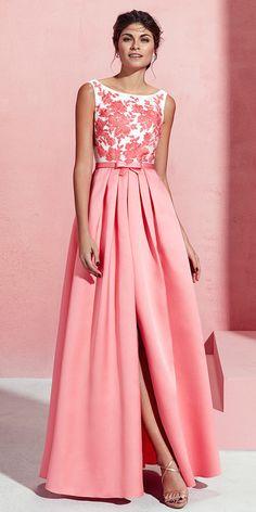 Excellent Satin Bateau Neckline A-line Prom Dress With Lace Appliques & Sash With Bowknot