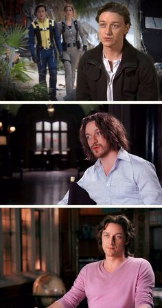 James McAvoy as Charles Xavier from First Class to Days of Future Past to Apocalypse