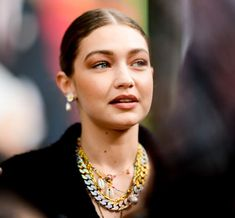 Gigi Hadid's Jewelry Style Is More Affordable Than You Think - Gigi Hadid's jewelry style: Layered necklaces - Holiday Jewelry, Jewelry Party, Earring Trends, Jewelry Trends, Turquoise Eyes, Evil Eye Pendant, Celebrity Jewelry, Evil Eye Necklace, Affordable Jewelry