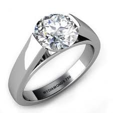 platinum cathedral engagement ring setting only - Google Search