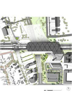 Galería de Mecanoo presenta diseño de nueva estación de trenes en Holanda - 5