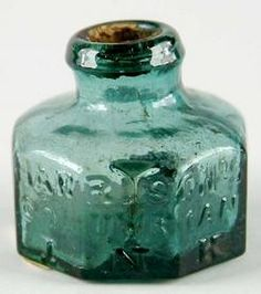 A Harrison Columbian ink bottle…