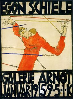 "EGON SCHIELE Exhibition poster….""Self Portrait As St. Sebastian"". @Deidré Wallace"