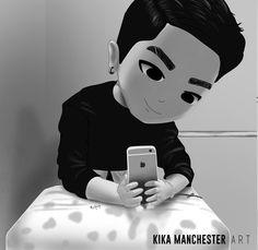 [FANART] Bang Yongguk  By: Kika Manchester