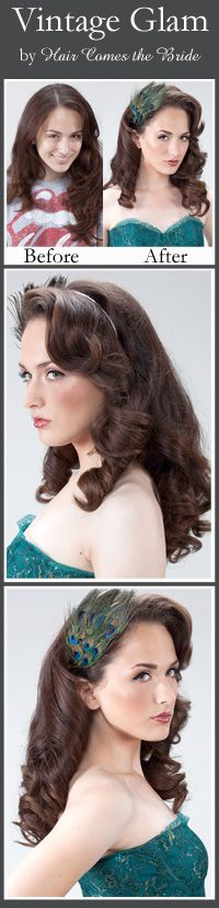 Vintage Glam by Hair Comes the Bride