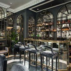 30 Ideas For Art Deco Restaurant Hotels Bar Interior Design, Cafe Interior, Design Hotel, Cafe Design, Design Design, Design Ideas, Interior Ideas, Design Bar Restaurant, Restaurant Lounge