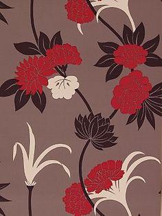 Sanderson Wallpaper, Suzu DPOMSU102, Pink - contemporary - wallpaper - John Lewis