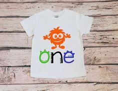 91324c04e64a Monster 1st Birthday Shirt, Baby Boy Birthday, Party Cake Smash Outfit, Birthday  Shirt One, Baby First Birthday Boy, Birthday Boy Shirt