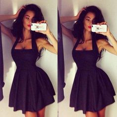 f4f82840cfe1 Long Dress 2015 2015 Sexy Little Black Sexy Homecoming Dresses Special  Halter Scoop Sexy Backless A