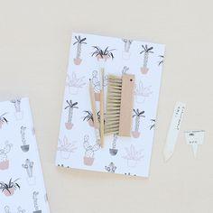 Carnet cahier cactus par  Audrey Jeanne - La Rose pourpre boutique - 8 EUROS
