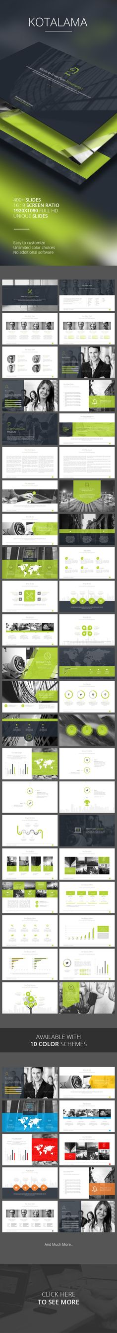 Kotalama PowerPoint Template - PowerPoint Templates Presentation Templates