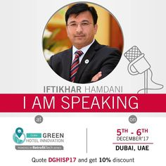 Known as the initiator of the green programs in the Northern Emirates Mr. Iftikhar Hamdani has made a significant impact in hotel engagement on CSR activities with his outstanding commitment and passion to Ramadas CSR activities. And he has been invited to speak to different organizations to spread awareness on sustainability.  To hear more of Mr. Hamdanis insights come to The 2nd Annual Dubai Green Tourism Hotel Innovation on 5  6 December  2017  #dubaigreentourism #ramadaajman #csr…