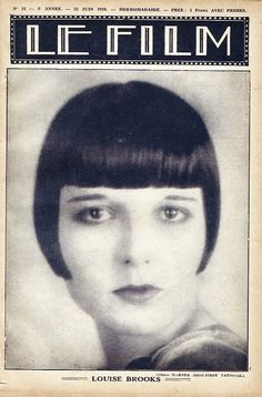 """Louise Brooks on the cover of """"Le Film"""" magazine"""