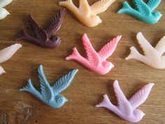 Set of 20 Birds Cabochons by CommeLesLoups on Etsy, $7.75