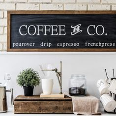Dimensions: 14 x Black Chalky Finish with White painted letters Raw barn wood frame Comes ready to hang Barn Wood Signs, Barn Wood Frames, Kitchen Dinning, Kitchen Reno, Painted Letters, Hand Painted, Neutral Kitchen, White Paints, Cottage