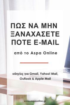 Πώς να μην ξαναχάσετε ποτέ email από το Aspa Online #spam #ανεπιθύμητα #email Blogging For Beginners, Earn Money, Life Hacks, Tips, Jars, Earning Money, Lifehacks, Counseling