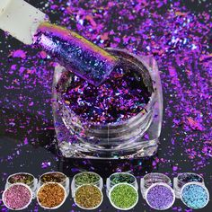6box/set Multicolor Flakes Bling Sequins 0.2g Nail Art Irregular Chameleon Magic Effect Nail Glitter Power 3D Holo Paillette  Price: 4.37 USD