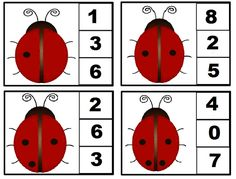Ladybug math printables for kids Oral Motor Activities, Counting Activities, Math Games, Book Activities, Preschool Math, Kindergarten Worksheets, Festa Lady Bag, Summer Worksheets, Spring Theme