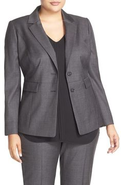 Classiques Entier® Superfine Wool Suit Jacket (Plus Size) available at #Nordstrom