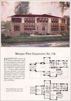 Morgan Plan Suggestion No. 7-B  1923 Morgan Woodwork Organization  Definite Frank Lloyd Wright influence.