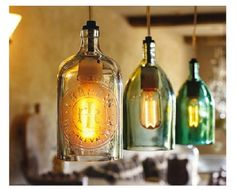 antique bottle light - [may be overdone and too common, although I like]