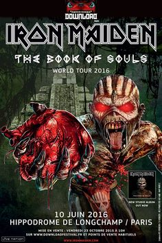 Actus Métal & Rock du 20 octobre 2015 - Iron Maiden : Download Festival