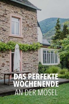 Romantische Auszeit an der Mosel: Ferienwohnung Mosel & Ausflugsziele A perfect getaway for the weekend or a longer time: the Senhalser Höfe on the Moselle. Find out everything about the Moselle regio Best Resorts, Vacation Resorts, Vacation Spots, Italy Vacation, Romantic Breaks, Romantic Times, Romantic Places, Europe Destinations, Honeymoon Destinations