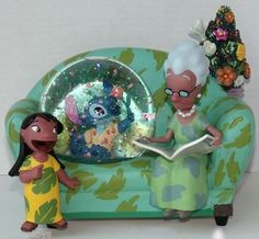 """Lilo and Stitch Musical Snow Globe plays """"You Are So Beautiful"""" retired, like new SOLD"""