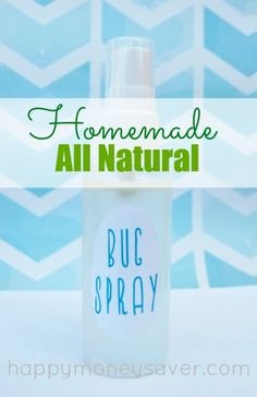 Make this quick and inexpensive diy recipe for non toxic bug spray to replace the chemical laded name brand varieties. It is all natural with no harsh chemicals, and delivers the same results! Happymoneysaver.com