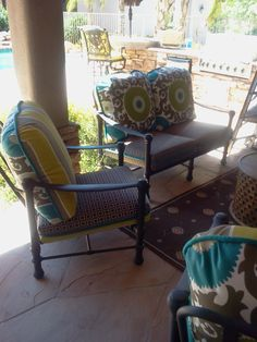 Patio furniture i designed in sunny arizona