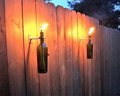 Wine/Beer Tiki Torch by scarmichael on Etsy, $20.00