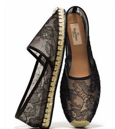 Lace Espadrille by Valentino #Shoes #Espadrille #Lace #Valentino