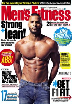 Ricky Whittle covers the July 2017 issue of Men's Fitness UK.