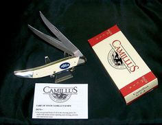 """Camillus #32 Knife American Wildlife Texas Toothpick """"Pewter Bass"""" W/Packaging @ ditwtexas.webstoreplace.com"""