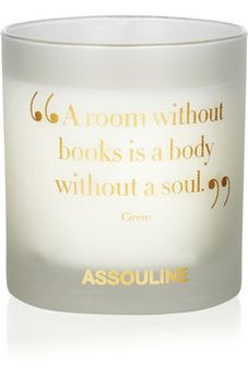 Books scented candle by Net A Porter on HavetoHave.com