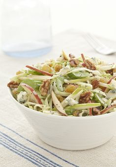 Cabbage, Celery and Apple Crunch Salad - Crunchy cabbage, apples, celery and walnuts are mixed for a delicious side dish. #SummerSalad #Crisp Cabbage Salad Recipes, Celery Recipes, Apple Salad Recipes, Healthy Salad Recipes, Apple Celery Salad, Celery Snacks, Fennel Salad, Coleslaw Salad, Coleslaw Dressing
