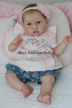 Reborn baby doll lifelike doll Saskia Bonnie Brown by Mary Anderson Dolls Live Baby Dolls, Reborn Baby Dolls Twins, Real Baby Dolls, Realistic Baby Dolls, Reborn Toddler, Reborn Baby Girl, Toddler Dolls, Reborn Dolls, Dolls Dolls