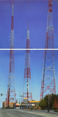 Christopher Martin Hoff • title: Towers (diptych)