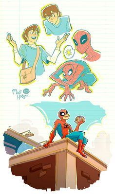 some downtime sketches of the old spectacular spiderman series which was probably my first full-on spiderman experience and therefore has my bias from the cute simple designs down to the voice actor. Spiderman Art, Amazing Spiderman, Spiderman Costume, Spectacular Spider Man, Marvel Art, Avengers Art, Mundo Comic, Spideypool, Fan Art
