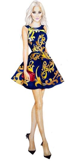Trendy ideas for fashion drawing dresses design inspiration Illustration Mode, Fashion Illustration Sketches, Fashion Sketchbook, Fashion Sketches, Fashion Model Drawing, Fashion Drawing Dresses, Fashion Design Drawings, Dress Fashion, Moda Fashion