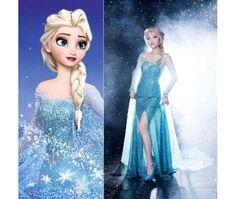Hot Princess Frozen Queen Elsa Costume Cosplay Adult Size S/M/L Tulle Elsa Dress - Dresses | RebelsMarket | http://amadealzon.com/2014/10/156/ ✿