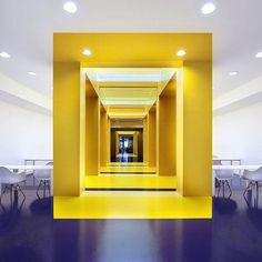 A stunning use of color in this Parisian office designed by Malka Architecture Photo by Laurent Gambit via morpholio 17- color, interior