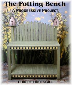 DYI DOLLHOUSE MINIATURES: THE POTTING BENCH