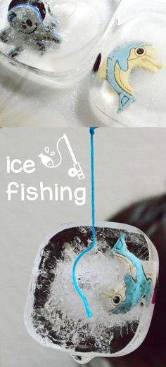 Ice Fishing Freezing Point Experiment - Science Project - STEM via @rookieparenting