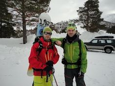 Suited up and ready to go! (Norrøna Lofoten Pro shell pants and jacket x 2)