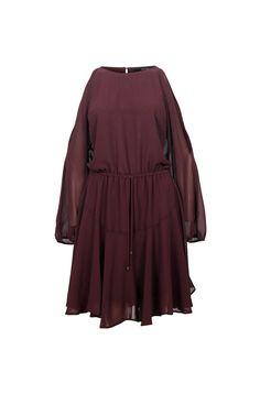 BELLA SPLIT SHOULDER DRESS